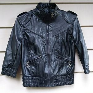 Paris Blues Jackets & Coats - Paris Blues Vegan Leather moto jacket black